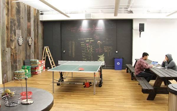 foursquare office wall design