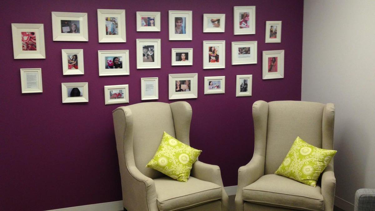 birchbox office wall design