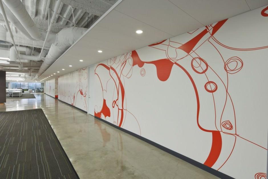 spunky office wall design