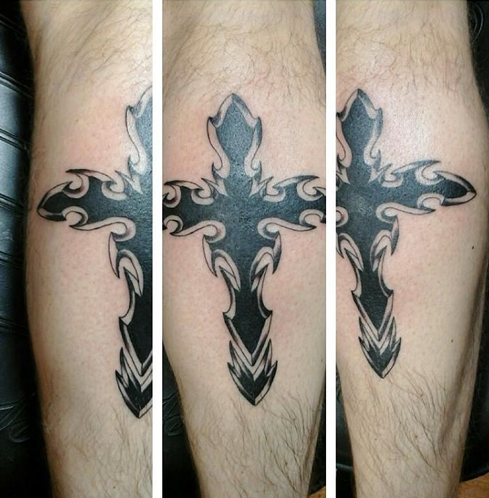 Black Cross Tattoo