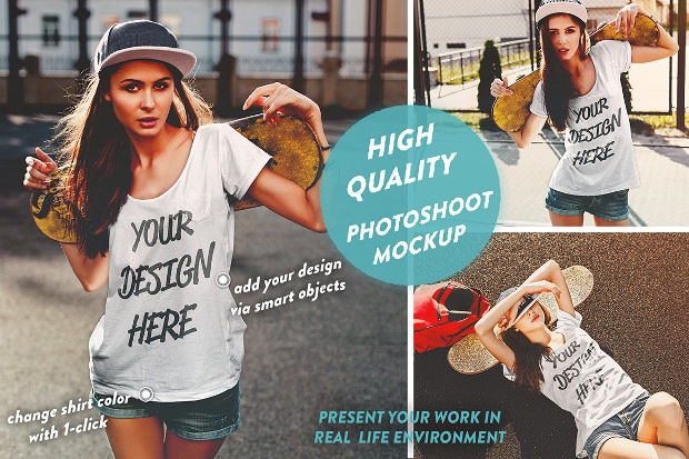 Good Quality Mock-up T-shirts Psd Download