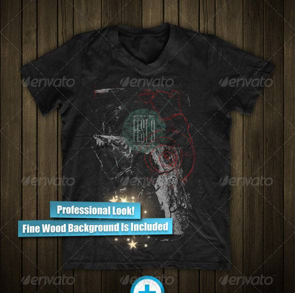 Cool looking Psd Mock-up T-shirts Download