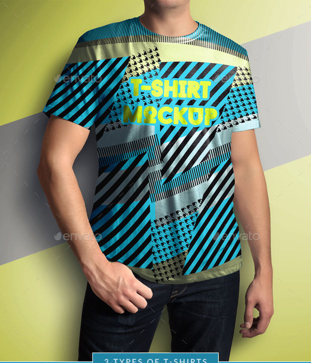 Funky Mock-up T-shirts Download
