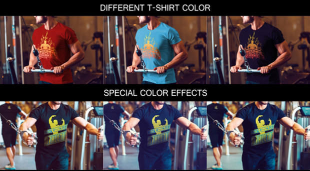 Special Color Mock-up T-shirts Psd Download