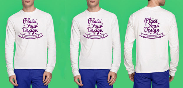 Free High Quality White T-Shirt Mock-up Psd
