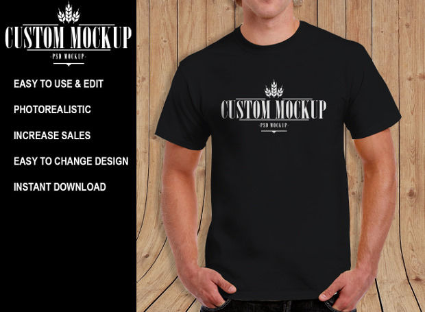 Custom Psd Mock-up T-shirts Download