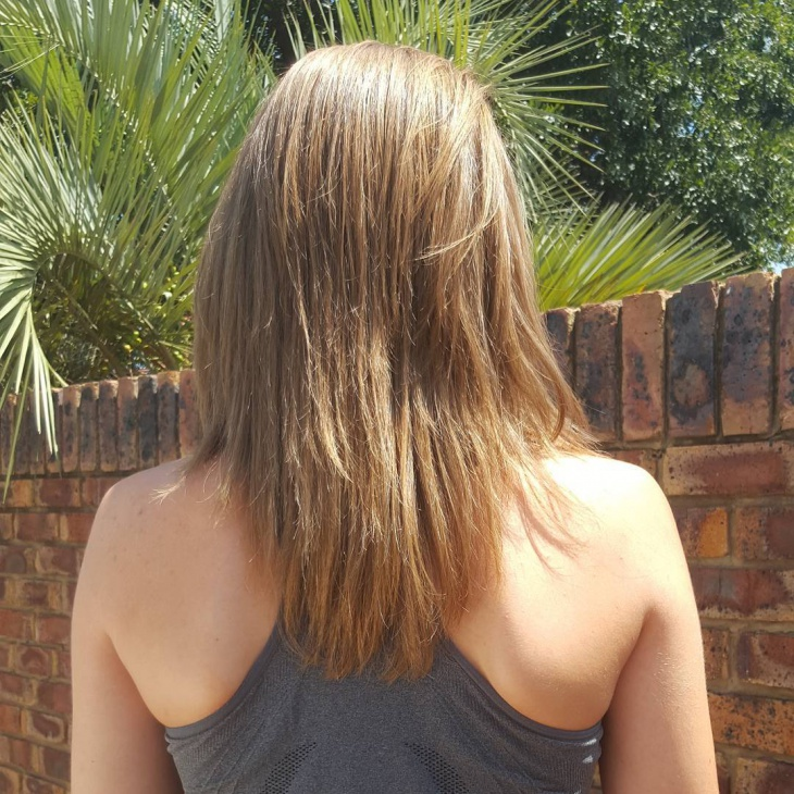 shaped medium long hairstyle