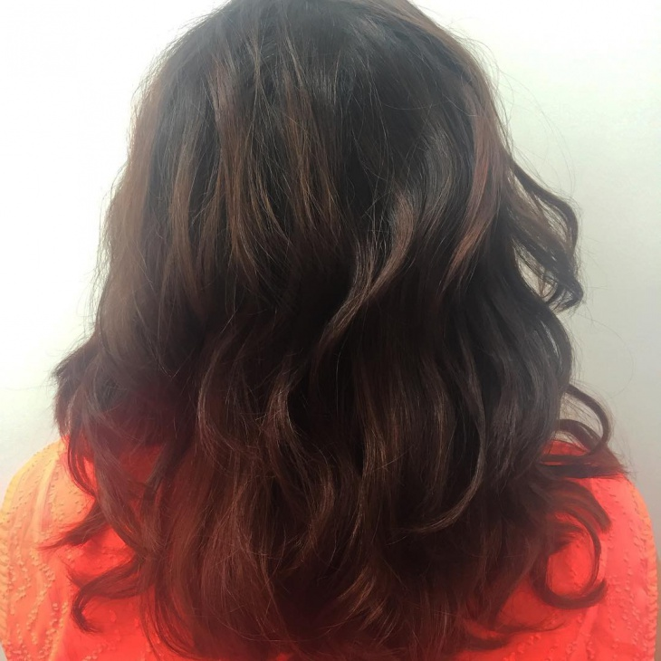 curly medium long hairstyle