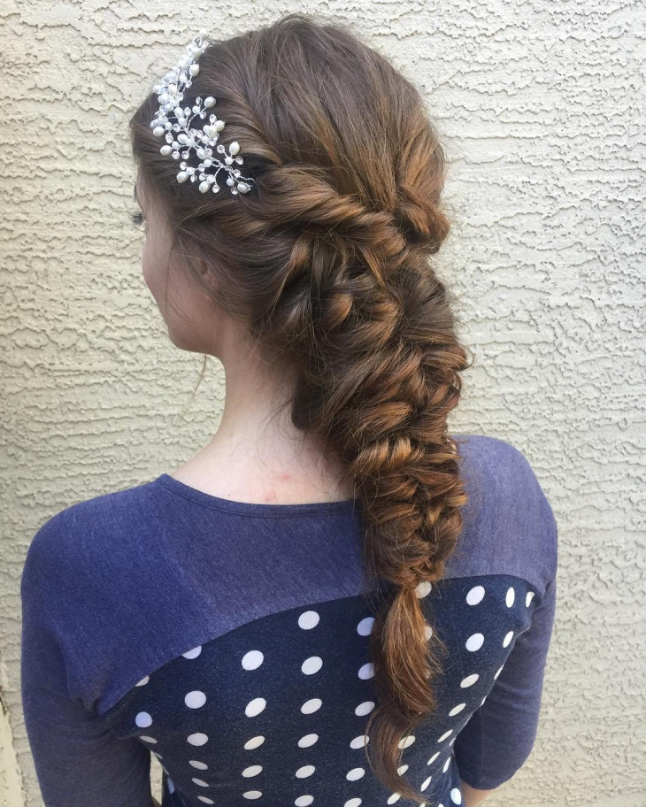 Pretty Long Braided Hairstyle