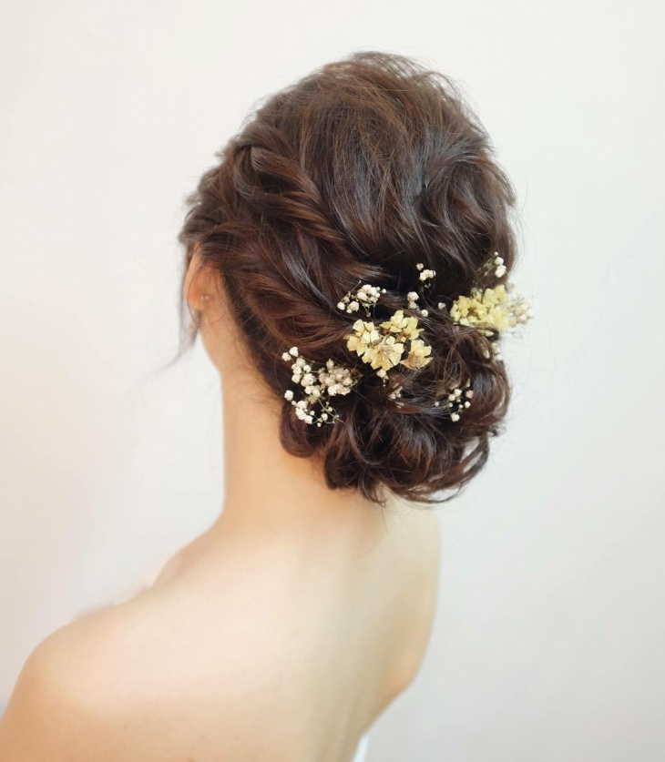 Long Curly Updo Bridal Hairstyle