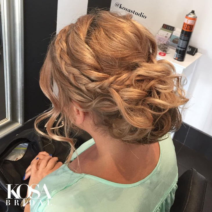Formal Curly Long Updo Hairstyle