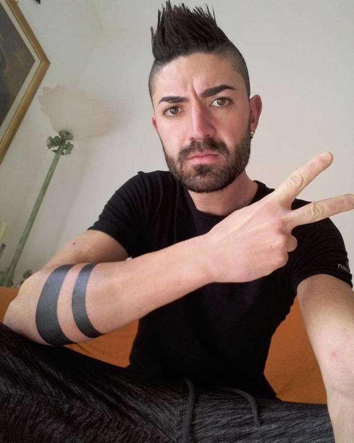 Trendy Tribal Band Tattoo Design