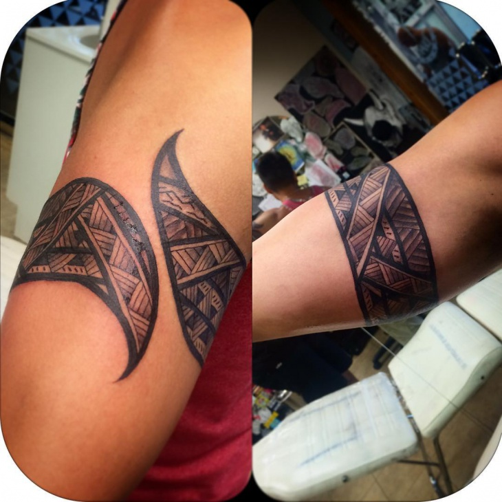 Tribal Band Tattoo On Right Hand