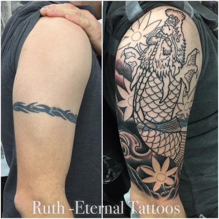 Tribal High Street Band Tattoo Design