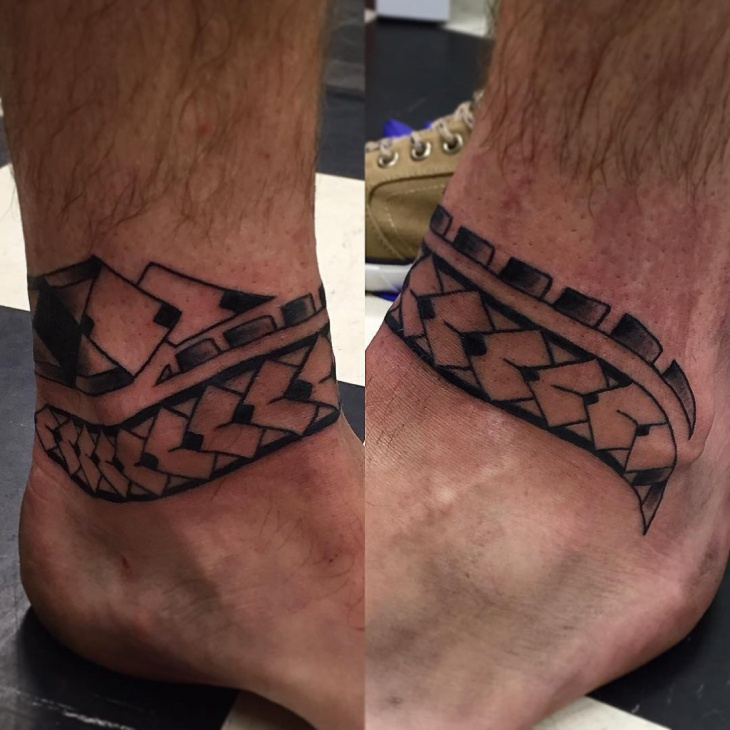 side views of tribal band tattoo design