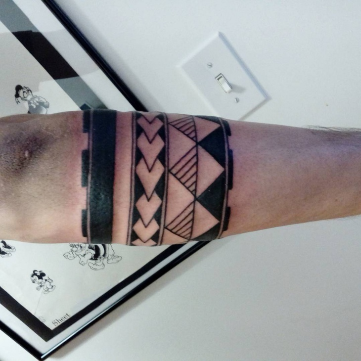 old tribal band tattoo