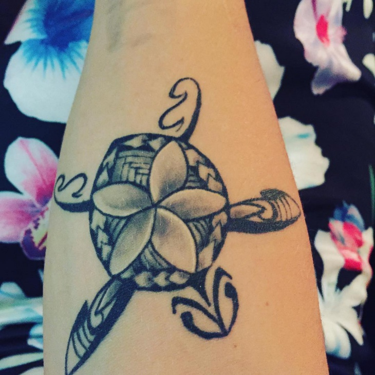 cute tribal turtle tattoo design