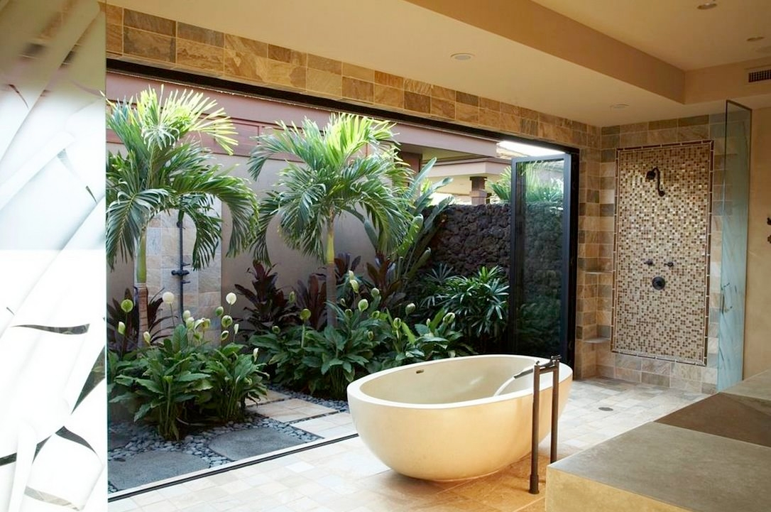 indoor garden bathroom