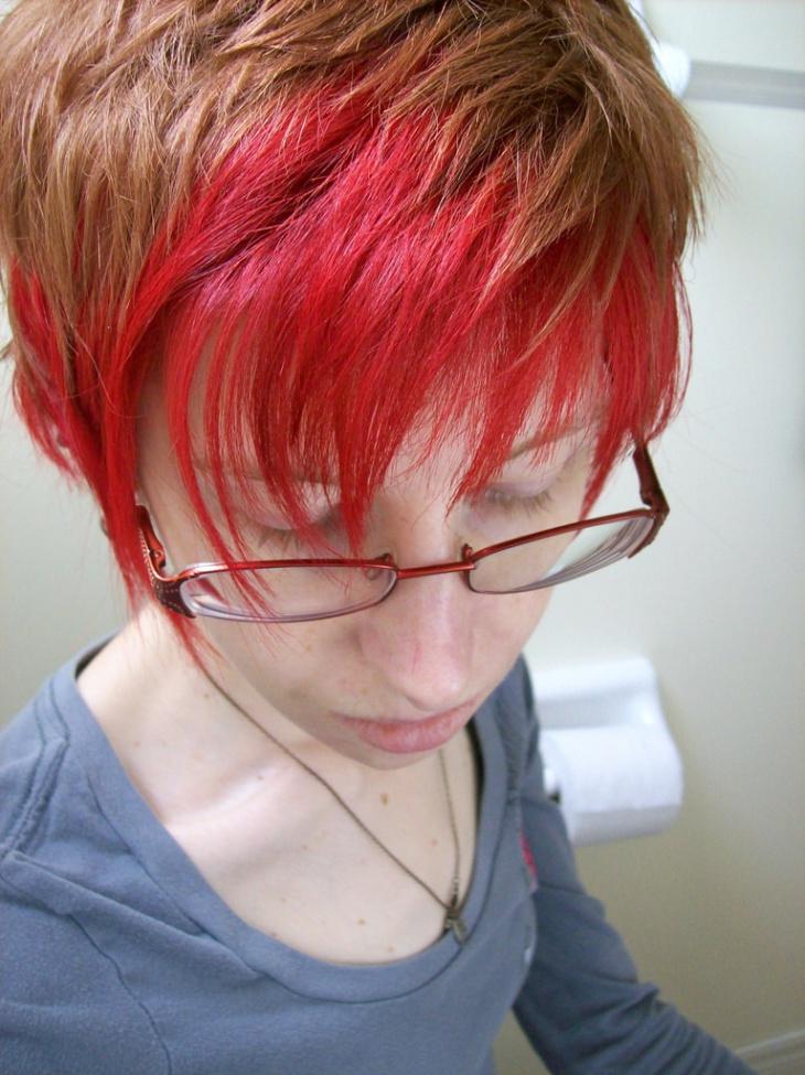 two toned shag haircut idea