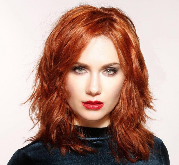 brown colored haircut design