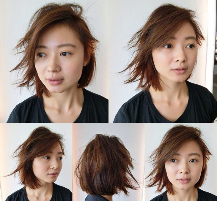shaggy hairstyle for fine hair