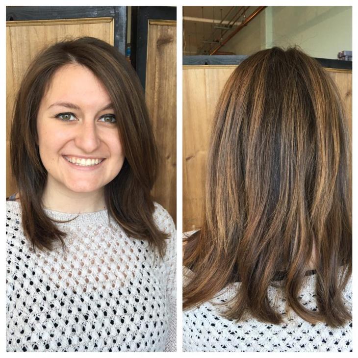 balayage layered haircut