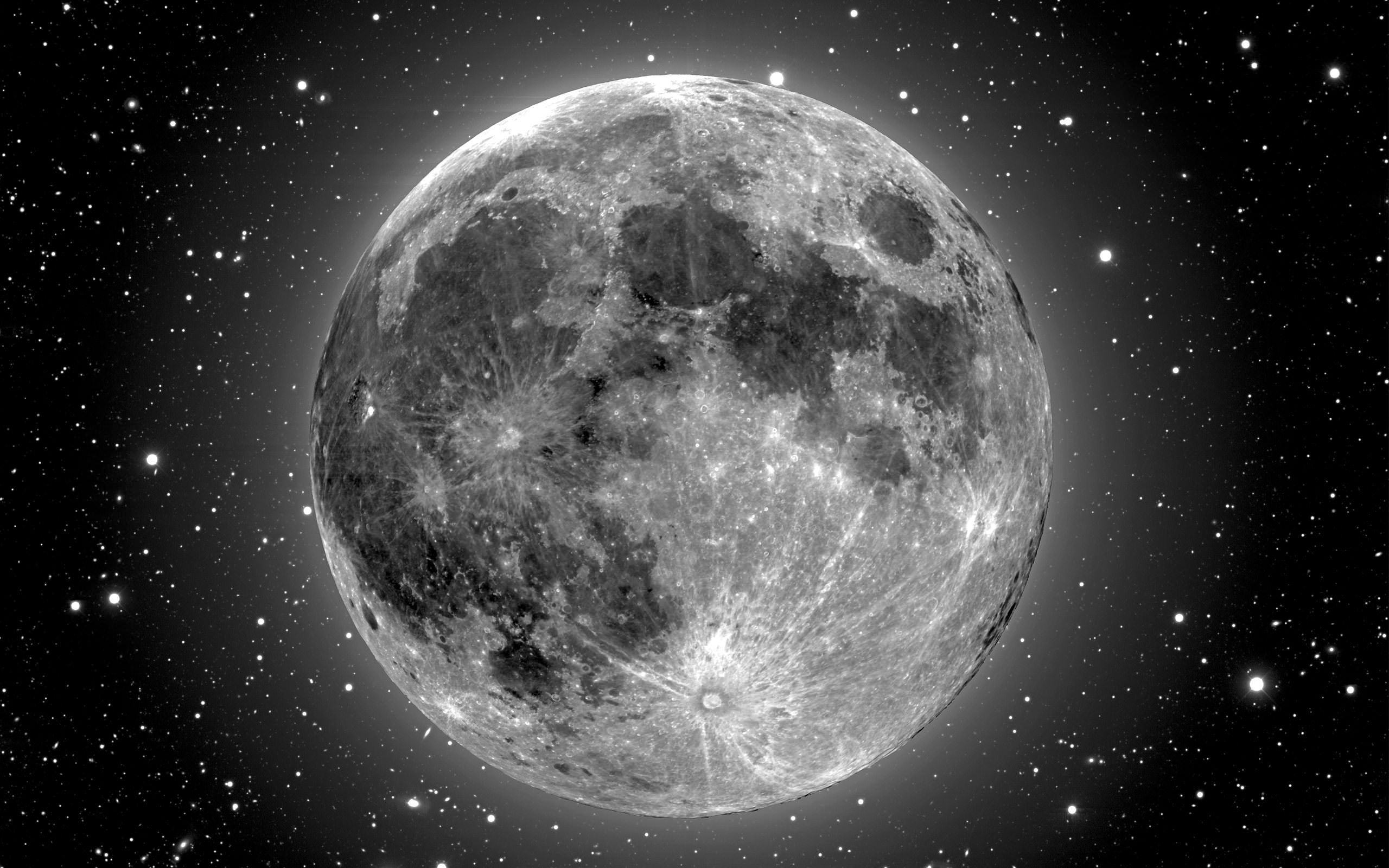 Shiny Moon Background