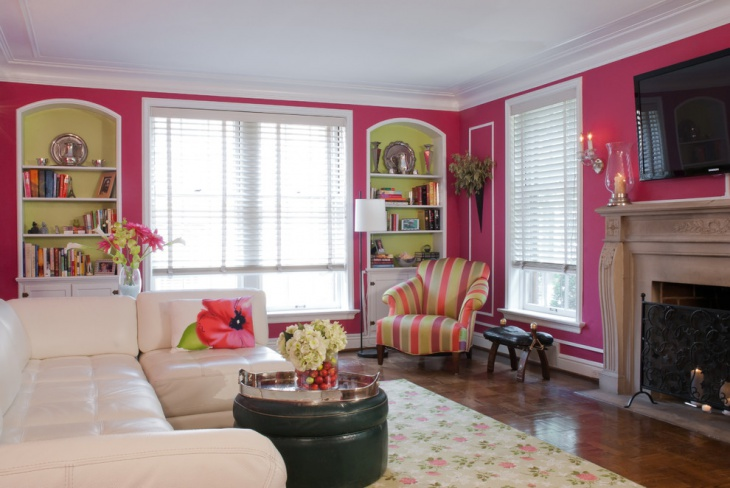 Beautiful Pink Wall Color Design