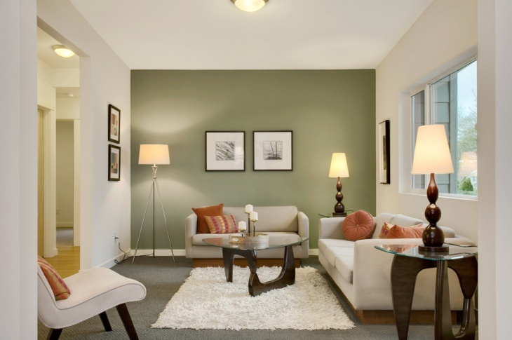 Modern Green Color Wall Idea