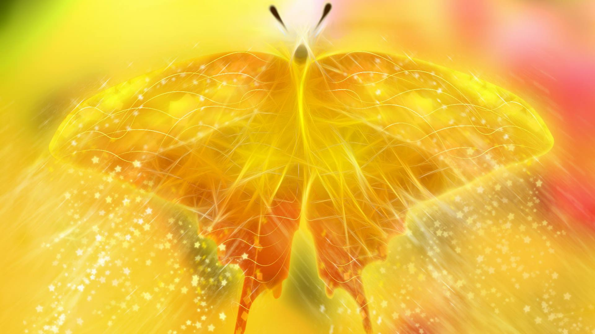 Butterfly Wings Glitter Background