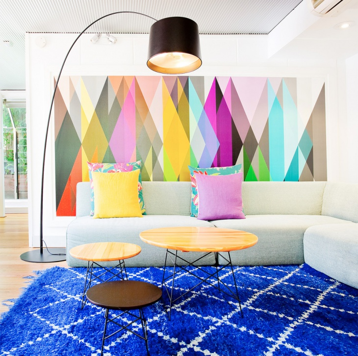 Colorful Wall Design In Living Room