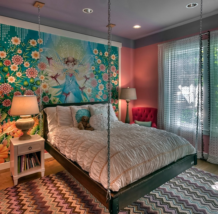 transitional kids bedroom wall design