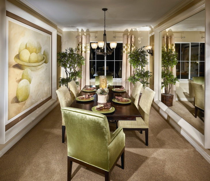 traditional dining room wall design idea