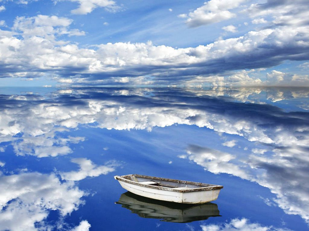 sky reflection background