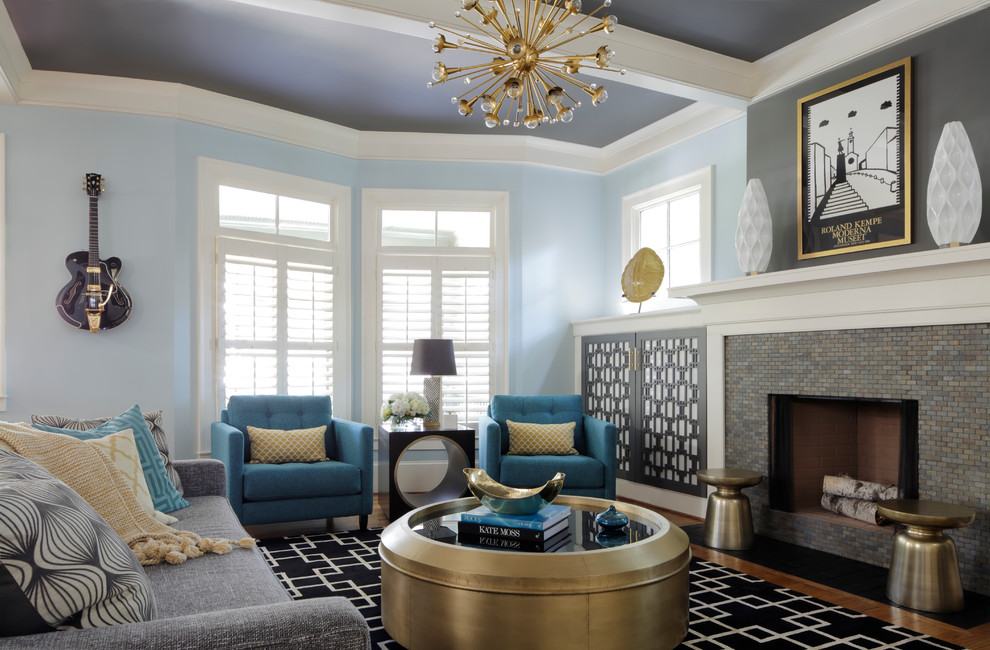 beautiful blue living room