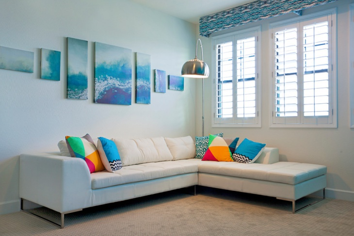small blue living room design