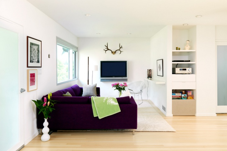 Purple Color Furniture For Small Space
