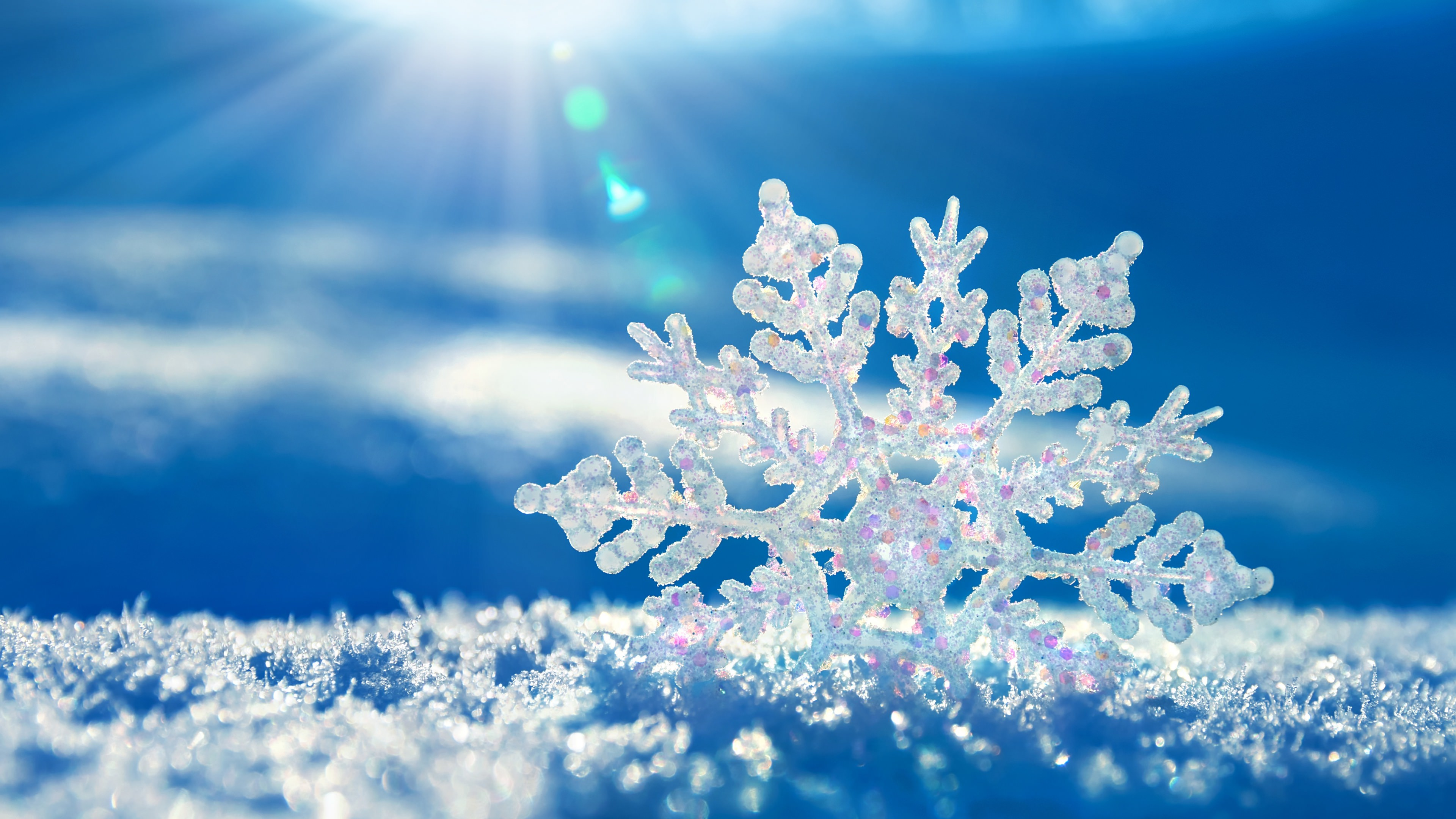 snowflake frozen background