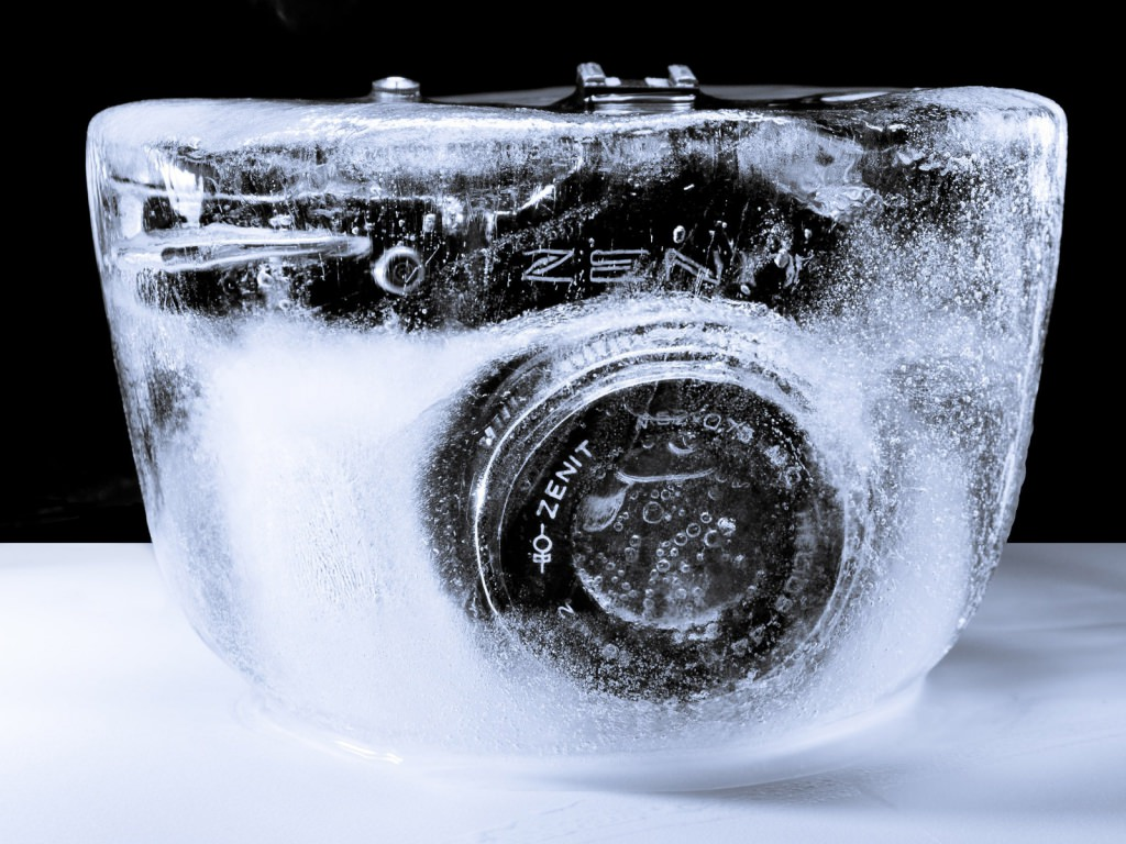 frozen camera background