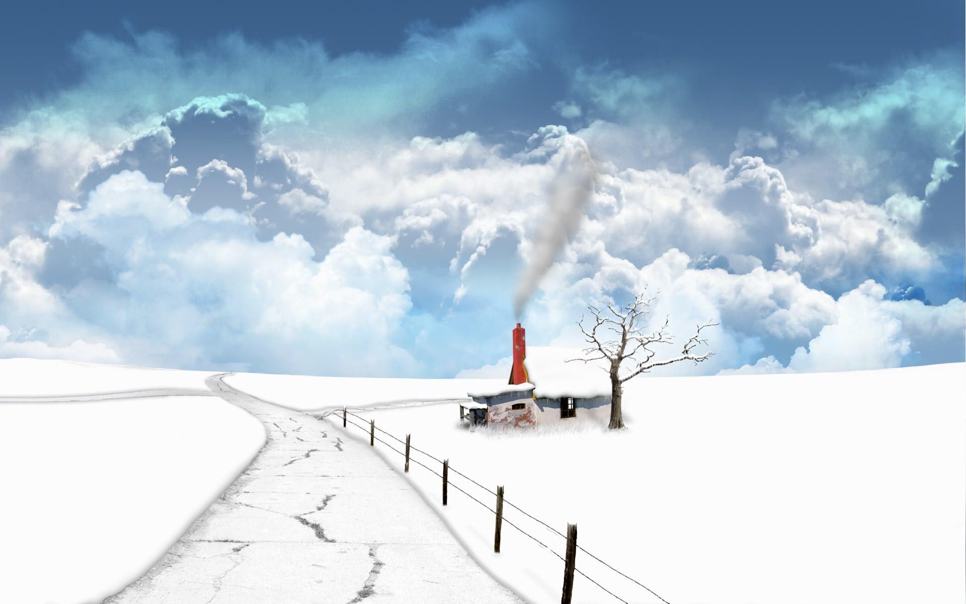 Fantasy Frozen Landscape