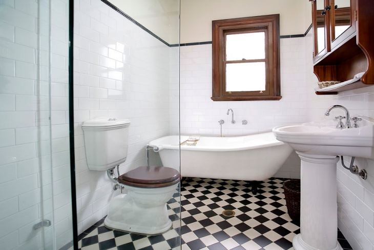 lowes bathroom checkered tile design - Lowes Bathroom Designer