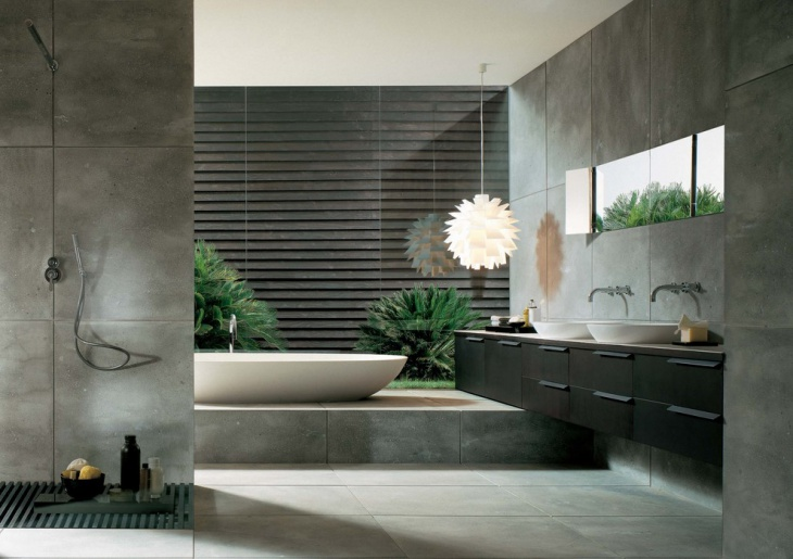Fascinating Modern Bathroom Tile Designs