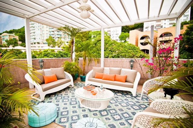 5tropical moroccan patio