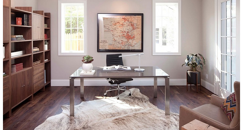 Functional home office designs decorating ideas design for Functional home office