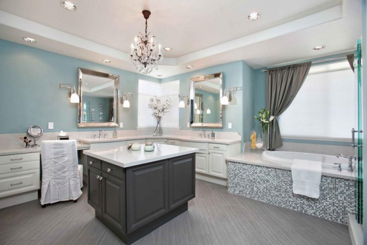 Spacious Master Bathroom With Storage Ideas