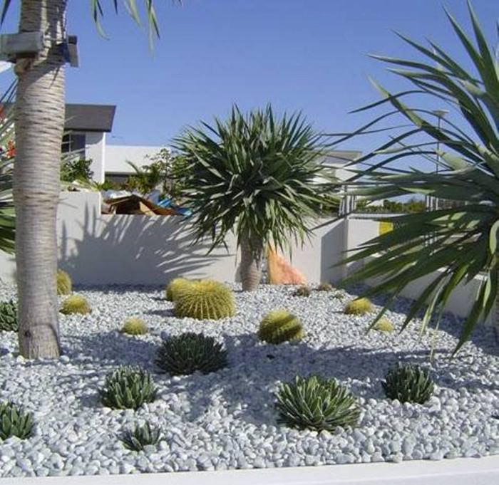 30 pebble garden designs decorating ideas design for Dry garden designs