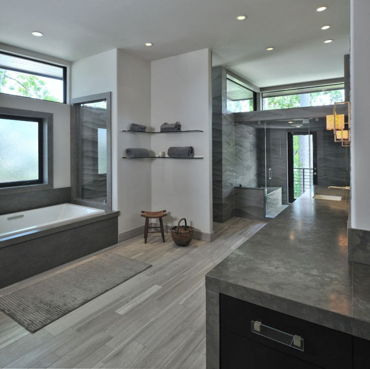 Gray Modern Bathroom Idea