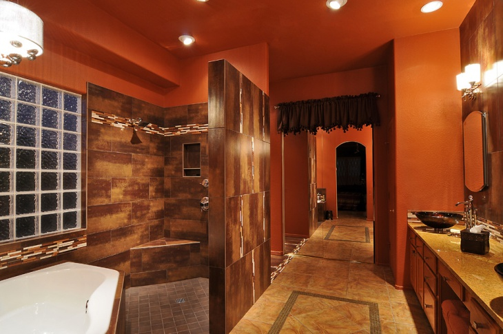 Wooden Master Bathroom Design