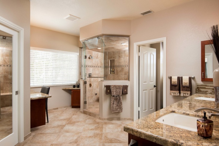 Master Bathroom with Bridge Port Door