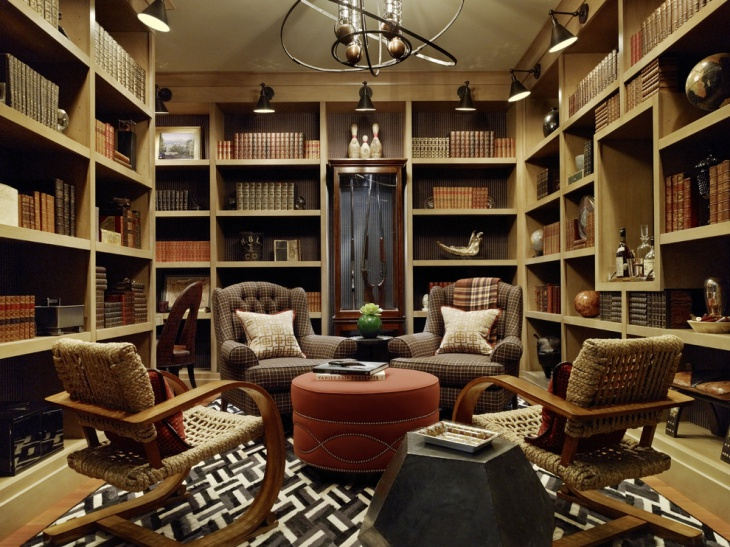 Traditional Masculine Home Office Idea